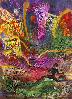 African-american Mixed Media - Running Man by Angela L Walker