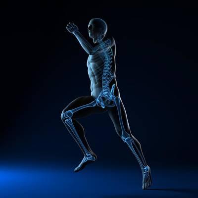 Running Skeleton, Artwork Art Print by Sciepro