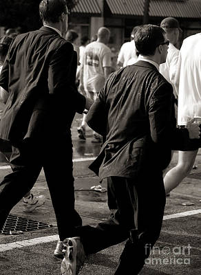 Photograph - Running Suits Black And White by Kathleen K Parker