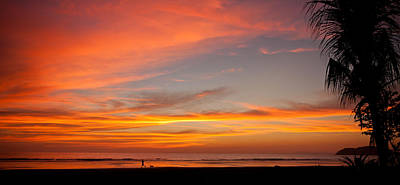 Photograph - Running With A Dog At Sunset by Anthony Doudt