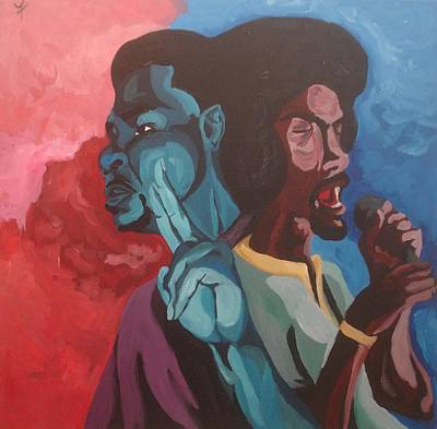 Fleurant Painting - Runnomorefromrevolution by Jason JaFleu Fleurant