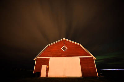 Asphalt Digital Art - Rural Barn Night Photograhy by Mark Duffy