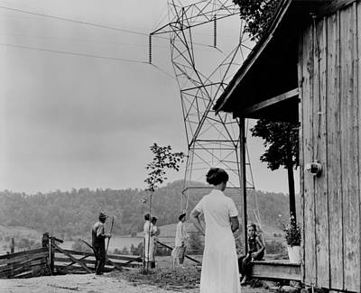 Rural Electrification In The Tennessee Art Print by Everett