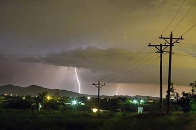 Rural Lightning Striking Art Print by James BO  Insogna