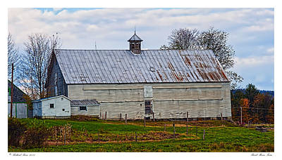 Rural Maine Farm Art Print by Richard Bean