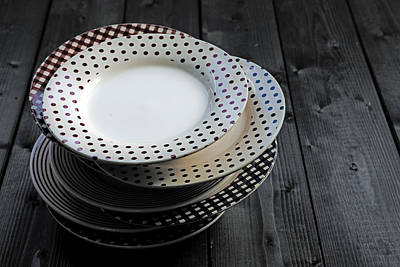 Antique Dishes Photograph - Rural Plates by Joana Kruse