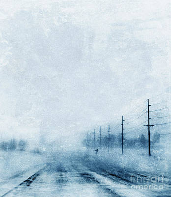 Telephone Poles Photograph - Rural Road In Winter by Jill Battaglia