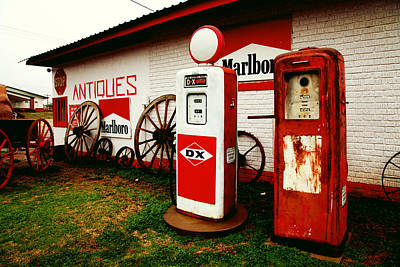 Rural Roadside Antiques Art Print by Toni Hopper