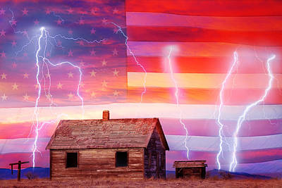Rural Rustic America Storm Art Print by James BO  Insogna