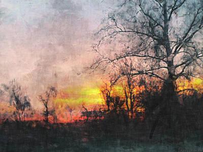 Rural Sunset  Art Art Print by Debbie Portwood