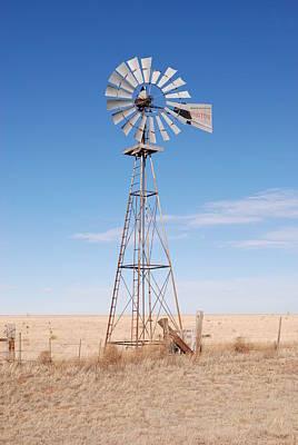 Clovis Photograph - Rural Windmill by Melany Sarafis