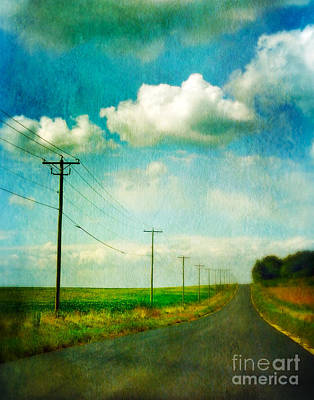 Telephone Poles Photograph - Rural Wisconsin Road by Jill Battaglia