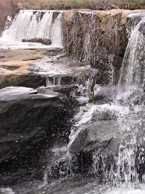 Art Print featuring the photograph Rushing And Flowing by Michelle H