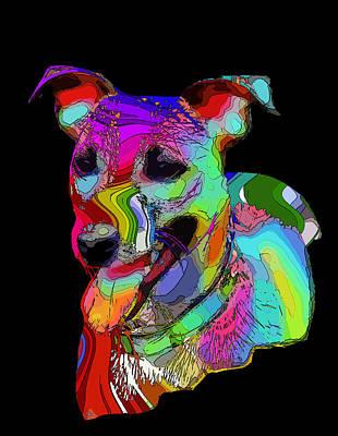 Terrier Digital Art - Russel 2 by Steve K