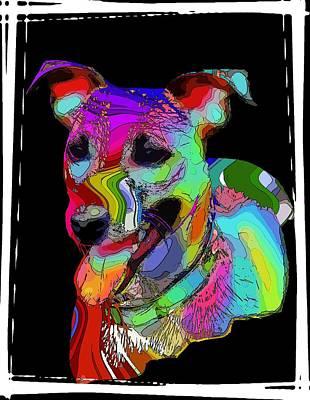 Terrier Digital Art - Russel by Steve K