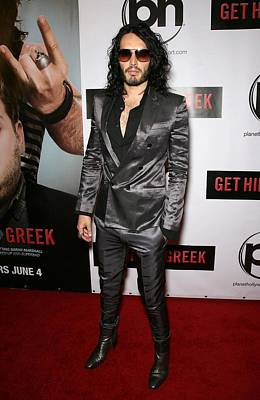 Gray Suit Photograph - Russell Brand At Arrivals For Get Him by Everett