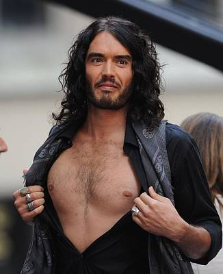 Bare-chested Photograph - Russell Brand On Stage For Nbc Today by Everett