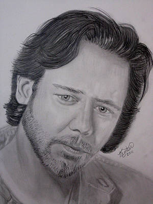 Drawing - Russell Crowe  by Kimber  Butler