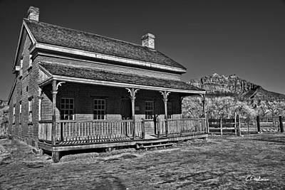 Photograph - Russell Home - Bw by Christopher Holmes