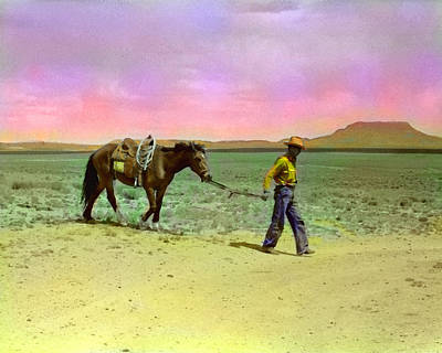Landmarks Digital Art - Russell Lee's Cowboy by Timothy Bulone