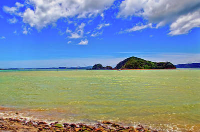 Photograph - Russell Shore Bay Of Islands by Harry Strharsky