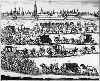 Russia: Procession, 1698 Art Print
