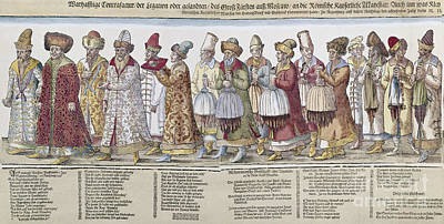 Russian Ambassadors, 1576 Art Print