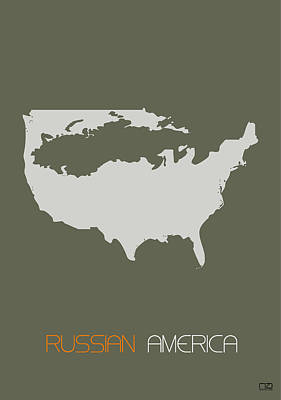 Russia Digital Art - Russian America Poster by Naxart Studio