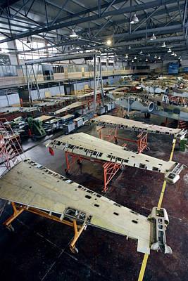 Sukhoi Photograph - Russian Military Aircraft Repair Centre by Ria Novosti