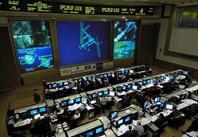 Russian Mission Control Center Print by Everett