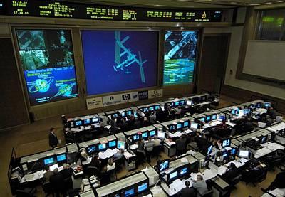 Russian Mission Control Center Art Print