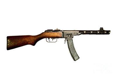 Russian Ppsh-41 Submachine Gun Print by Andrew Chittock