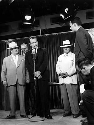 Nikita Photograph - Russian Premier Nikita Khrushchev Left by Everett