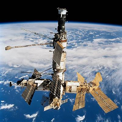 Russian Space Station Mir. Photo Print by Everett