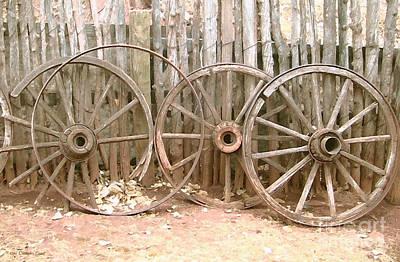 Wagon Wheels Digital Art - Rust In Peace by Cristophers Dream Artistry