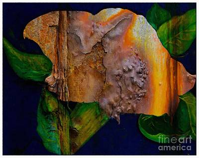 Rust Texture 3  Art Print by Barbara Griffin