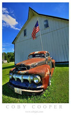 Photograph - Rust White And Blue by Coby Cooper