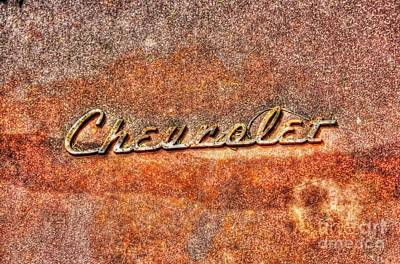 Rusted Antique Chevrolet Logo Art Print by Dan Stone