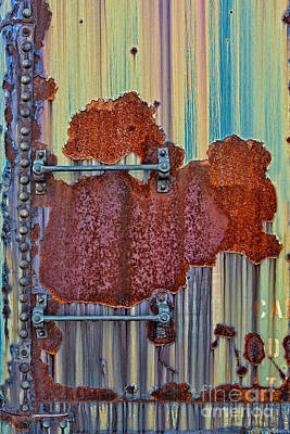 Photograph - Rusted Art by Susan Candelario
