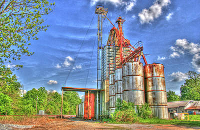 Feed Mill Digital Art - Rusted But Still Going Strong by Rick Ward