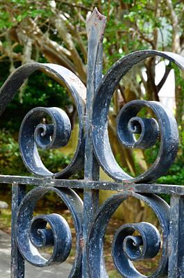 Rusted Charleston Ironwork Art Print by Debbie Karnes