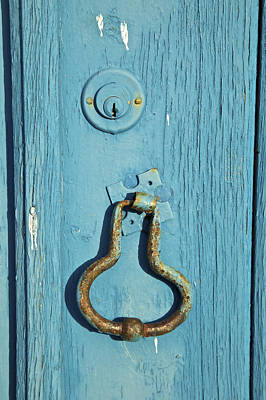 Photograph - Rusted Door Knocker by David Letts