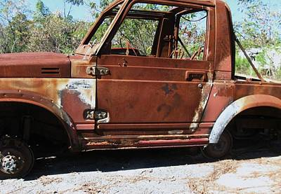 Photograph - Rusted Jeep by Todd Sherlock