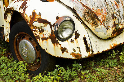 Photograph - Rusted Volkswagen by Carolyn Marshall