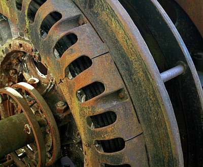 Photograph - Rusted Wheel In Color by Lorraine Devon Wilke