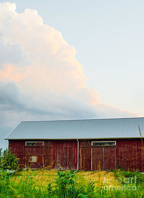 Up On The Roof Photograph - Rustic Barn by Christina Klausen
