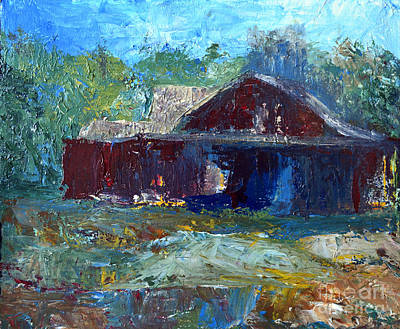 Painting - Rustic Barn by Claire Bull