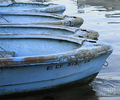 Photograph - Rustic Blue Rowboats by Tom Griffithe