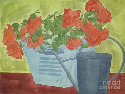 Rustic Garden  Art Print by Jennifer Taylor Rogerson
