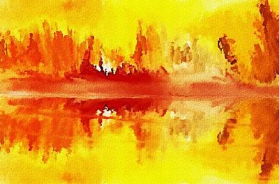 Digital Art - Rustic Landscape 121911 by David Lane